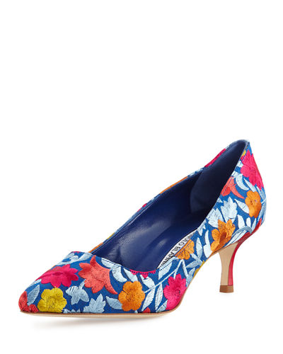 BB Floral-Embroidered 50mm Pump