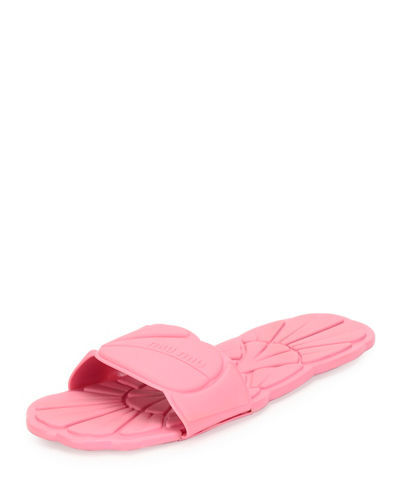 Floral Rubber One-Band Flat Sport Sandal