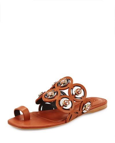 Mercedes Castillo Jalisa Jeweled Toe-Ring Sandal