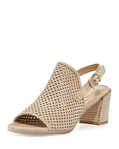 Popular Perforated Suede Slingback Sandal
