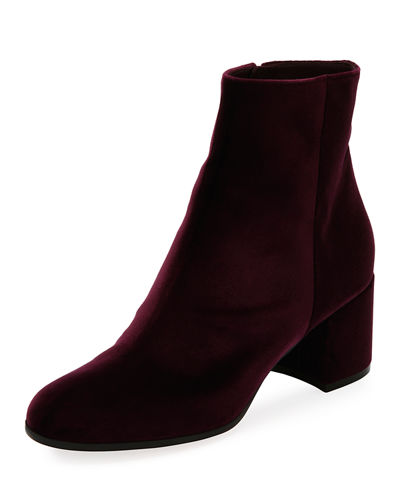 Velvet 60mm Block-Heel Ankle Boot