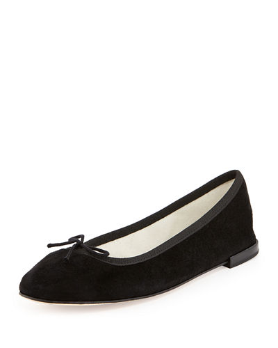 Repetto Suede Bow Ballerina Flat