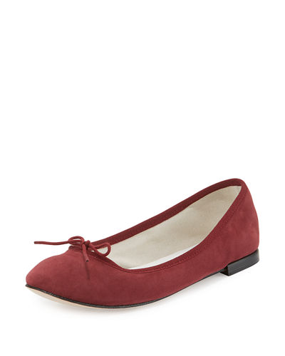 Suede Bow Ballerina Flat