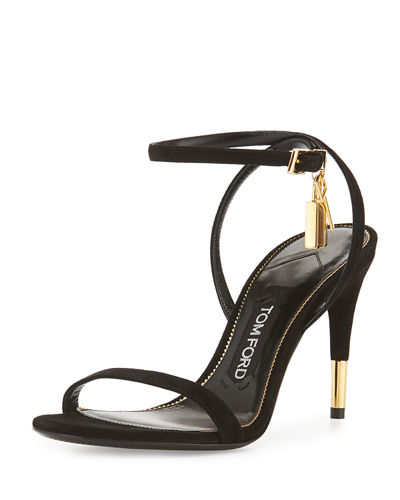 Suede 85mm Ankle Lock Sandal