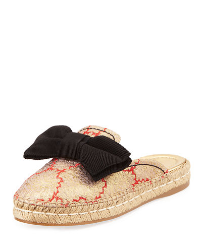 Suede 20mm Bow Mule Espadrille