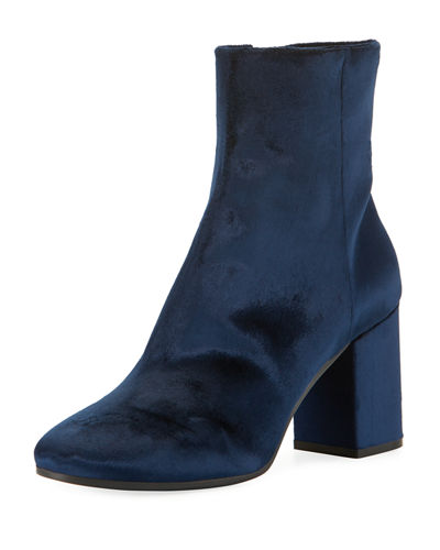 Velvet Block-Heel Boot
