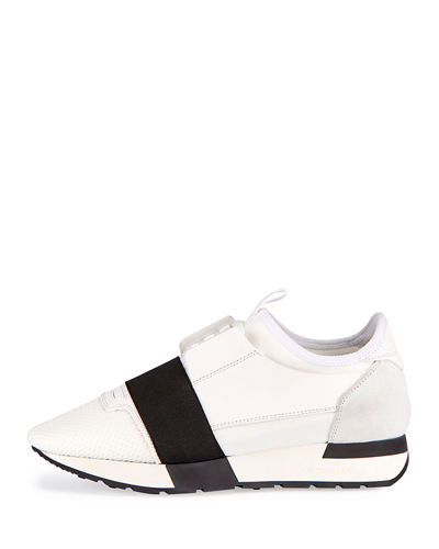 Mesh & Leather Sneaker