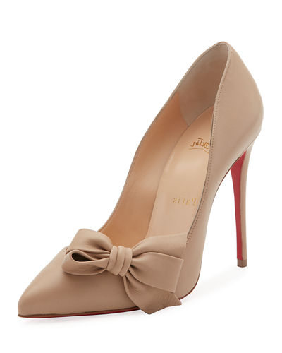 Madame Bow Red Sole Pump