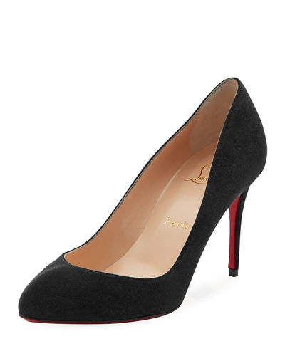 Breche Suede 85mm Red Sole Pump