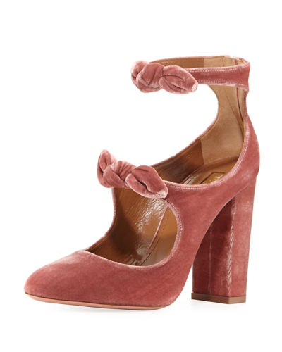 Sandy Velvet Mary Jane Pump