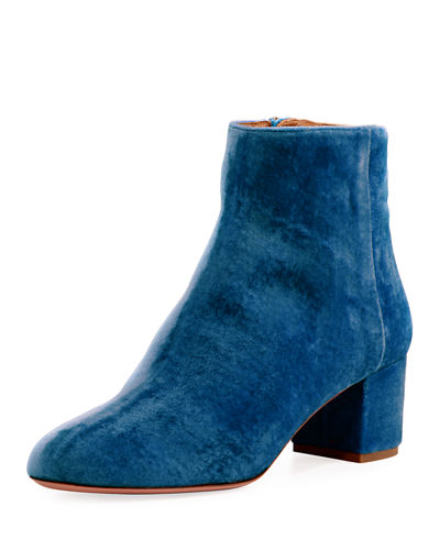 Brooklyn Velvet Block-Heel Boot