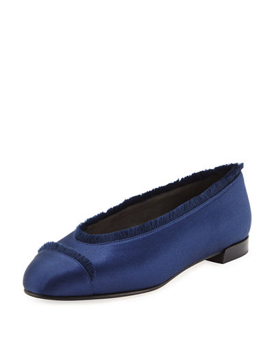 Captain Satin Ballerina Flat