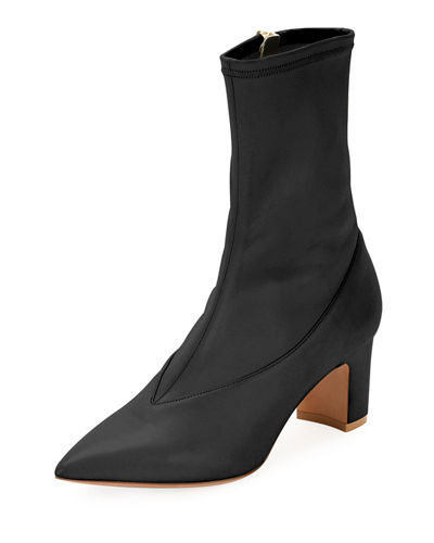 Stretch-Napa Point-Toe Bootie