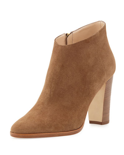 Brusta Suede Ankle Bootie