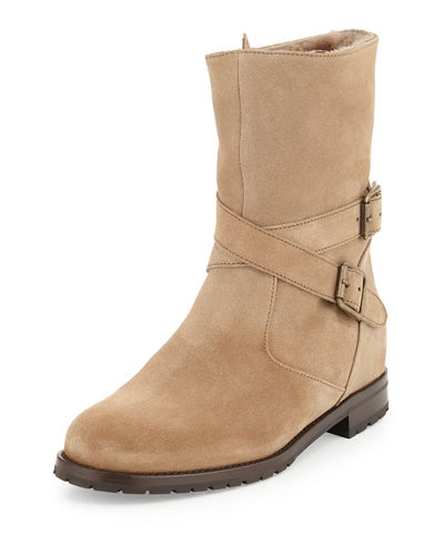 Campocross Shearling-Lined Crisscross Buckle Boot