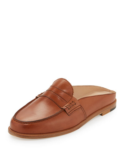 Elle Leather Loafer Mule