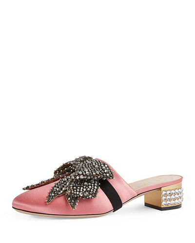 Candy Bow-Embellished Low-Heel Mule