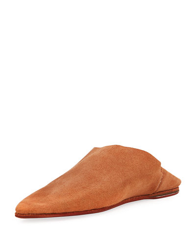 Brother Vellies Suede Babouche Flat Slide