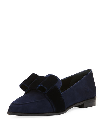 Tuzarkan Velvet Bow Loafer