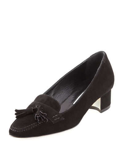 Abdon Suede Loafer Pump