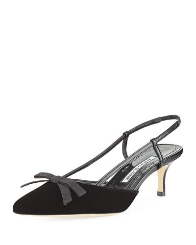 Galop Velvet 60mm Slingback Pump
