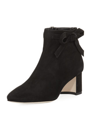dilo suede bow bootie