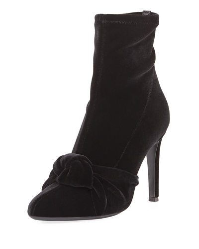 Stretch Velvet 110mm Bootie