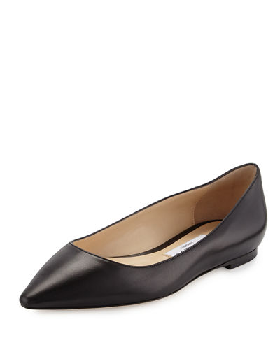 Jimmy Choo Romy Leather Ballerina Flat