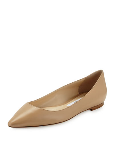Romy Leather Ballerina Flat