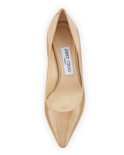 Romy Patent Pointed-Toe 60mm Pump