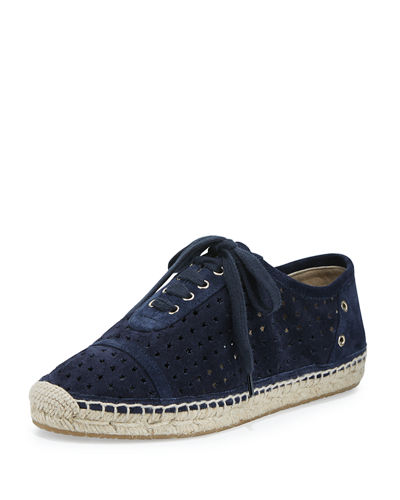 Jimmy Choo Dara Star-Perforated Espadrille Sneaker