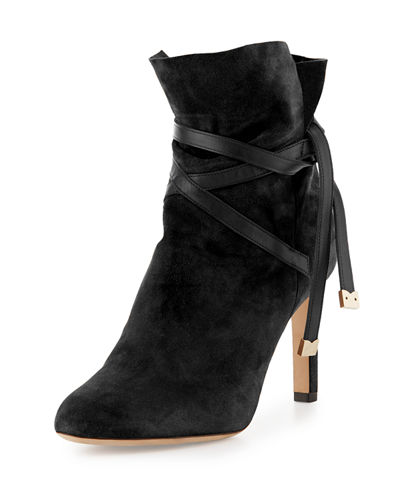 Jimmy Choo 85mm Dalal Suede Bootie