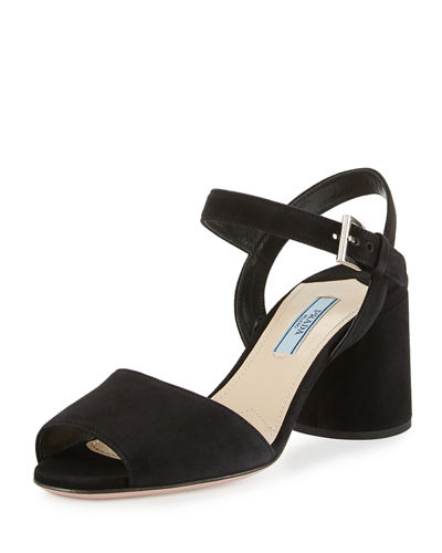 Suede Ankle-Strap 65mm Sandal