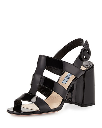 85mm Patent Caged Sandal