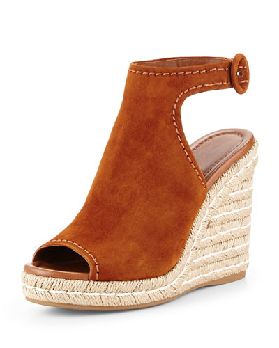 Suede 120mm Espadrille Wedge Sandal