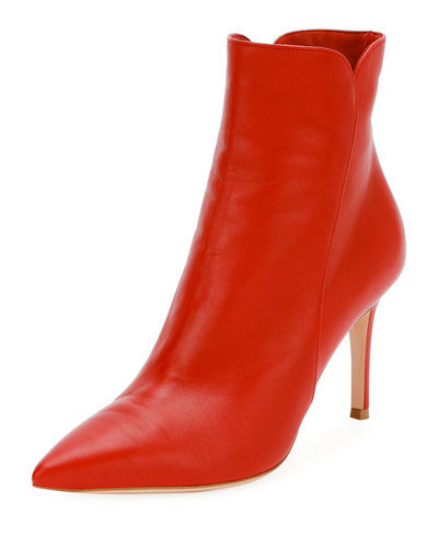 Levy Notched Leather 85mm Bootie