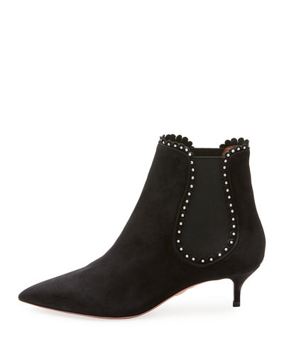 Jicky Studded Low-Heel Chelsea Boot