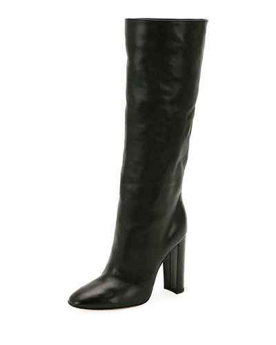 Slouchy Leather Knee Boot