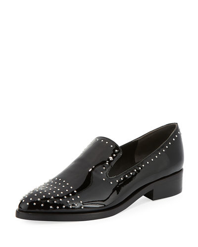 Edna Studded Leather Loafer