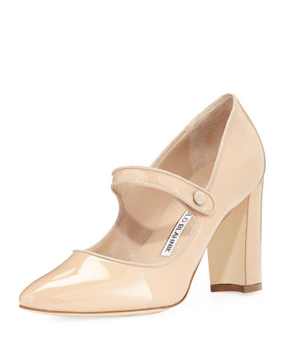 Campy Patent Leather Mary Jane Pump