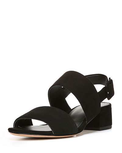 Taye Suede Two-Band Sandal