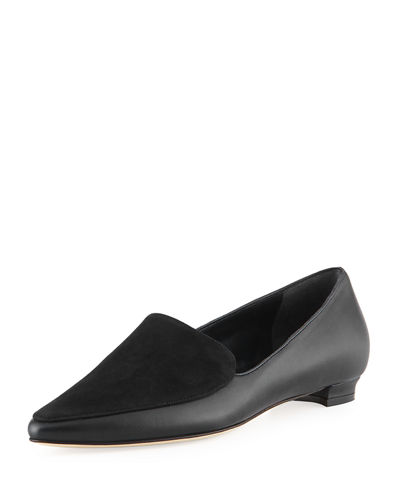 Tintoretta Flat Napa & Suede Loafer