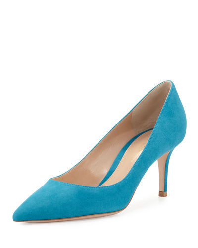 Gianvito Rossi Suede Point-Toe 70mm Pump