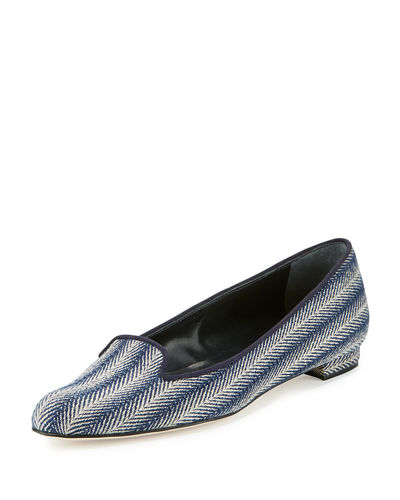 Shari Woven Fabric Loafer