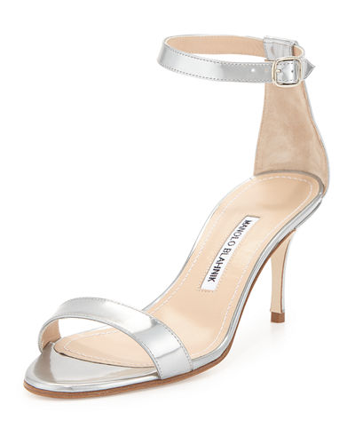 Chaos 70mm Patent Ankle-Strap Sandal