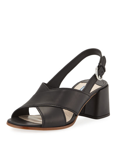Leather Crisscross 55mm Sandal