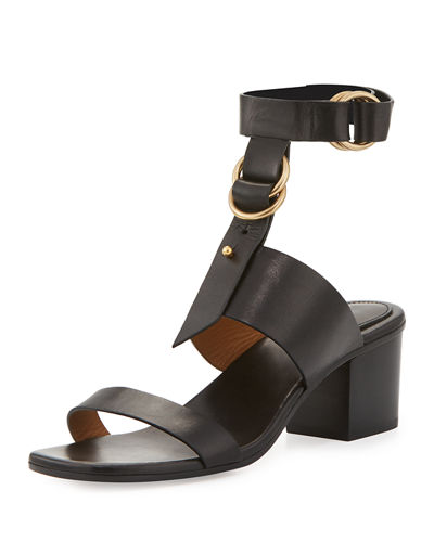 Chloe Kingsley Leather T-Strap Sandal