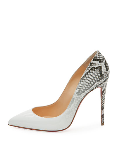 Pigalle Follies Ombre Snake-Print Red Sole Pump