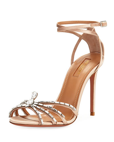 Crystal Spider Ankle-Wrap Sandal