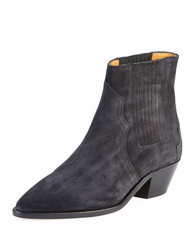 Derlyn Suede Pull-On Bootie